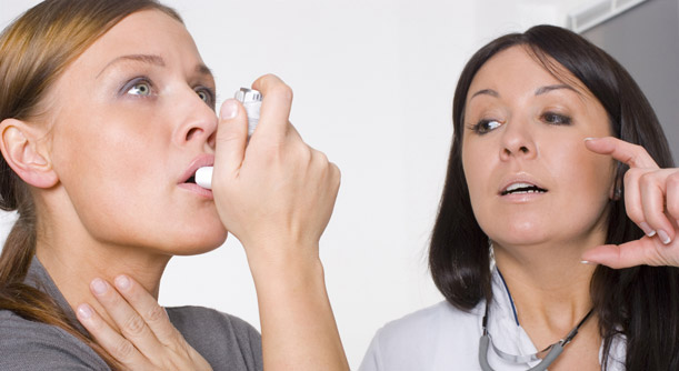 Picture illustrating asthma